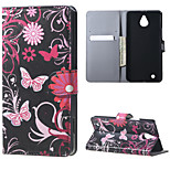 Butterfly Flowers Magnetic Leather wallet Flip Stand Case cover for Nokia Microsoft Lumia 850