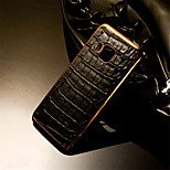 Luxury Retro Crocodile Grain PU Leather+Plating PC Golden Brand Mobile phone Skin Case Cover For HTC M7/M8/M9