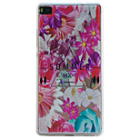 Flowers Embossment Dull Polish Frame + Transparent TPU Soft Phone Case for Huawei P8/P8 Lite
