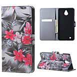 Red Flowers  Magnetic PU Leather wallet Flip Stand Case cover for Nokia Microsoft Lumia 850