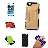 caso para el iphone 6 más caja del teléfono fresco carreras de los deportes forma del coche de plástico duro stand (color clasificado)
