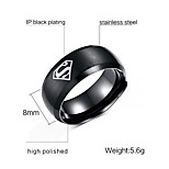 Band Rings Stainless Steel Steel Fashion Gold Black Golden Jewelry Party 1pc
