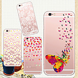 MAYCARI®Butterfly and Flower Soft Transparent TPU Back Case for iPhone 6/iphone 6S(Assorted Colors)