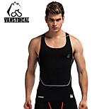 Vansydical Hombres Secado rápido Fitness Tops Blanco / Verde / Rojo / Gris / Negro / Azul / Verde Claro / Naranja
