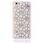 Silver Little Daisy Pattern PC Material Stereoscopic Stars Quicksand Phone Case for iPhone 6 / 6S