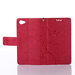 Solid Dragon Pattern Holster Around Open Wallet for Sony Z5Mini(Assorted Colors)
