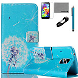 COCO FUN®  Dandelion Pattern PU Leather Case with V8 USB Cable, Flim, Stylus and Stand for Samsung Galaxy S5 I9600