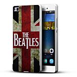 The Beatles British National Flag 3D Printing Carving Hard Back Case Ultrathin Metal Bumper for Huawei P8 Case
