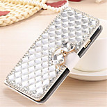 Luxury Bling Crystal & Diamond Leather Flip Bag For Asus Zenfon 6 (Assorted Colors)