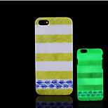 resplandor patrón azteca en la cubierta trasera de plástico duro oscuro para iphone 5 para el caso del iphone 5s