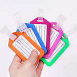 BirdRoom®PVC Luggage Tag Travel Box Anti Lost Tag Board Aircraft Consignment Card(Assorted Color)