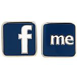 facebook face book f me French shirt cufflinks cuff nail