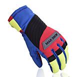 Fashion Spliced Winter Waterproof Ski Gloves Women Snowboard Keep Warm Gloves Men Skiing Snowboarding Gloves 905
