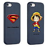 iFashion® Black Color Hat Man And Hero Pattern Silicone Soft Case for iPhone 5/5s