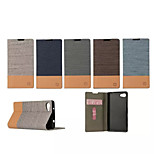 Luxury Flip Canvas Leather Case With Wallet Card Slot Holder For Sony Xperia Z5 Compact (Assorted Colors)