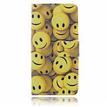 Smile Pattern  PU Leather Material Suction Buckle Card Holder  Phone Case for Huawei P8 Lite