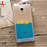 Funny Design Fluid Liquid Flowing Yellow Duck Crystal Clear Plastic Hard Case Cover for Xiaomi Mi 4