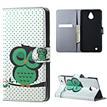 Sleeping Owl on the Branch Magnetic PU Leather wallet Flip Stand Case cover for Nokia Microsoft Lumia 850