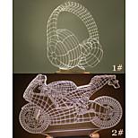 visuelle 3d casque ou modèle de moto atmosphère de l'humeur conduit décoration lampe de table cadeau blanche chaude lumière de nuit
