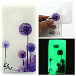 Purple Dandelion Pattern TPU Luminous Phone Case For Nokia Lumia 540