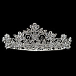 Clear Mini Crown Wedding Tiara Little Girl Sparkly Hair Jewelry Accessories