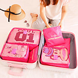 Travel Bags/Luggage Bag-Large Thick-Pink/Blue/Red-1 Set of 6 Pieces