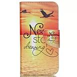 Sunrise Painted PU Phone Case for Wiko Rainbow Jam 4G