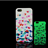 Heart Pattern Glow in the Dark Hard Plastic Back Cover for iPhone 5 for iPhone 5s Case