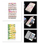 The letter Design Pattern PU Leather Full Body Case for iPhone 4/4S