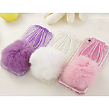 Soft Rabbit Hair Ball Drill With the Rope for iPhone 6/6S (Assorted Colors)