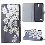 Blooming Flowers Magnetic PU Leather wallet Flip Stand Cover Case For Huawei Ascend Y5/y560
