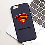 iFashion® Candy Color Black Cool Man Hero Pattern Soft Case for iPhone 6/6s