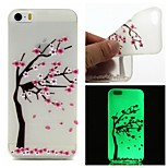Peach Tree Luminous Dream Catcher Pattern Sofe TPU Case for iPhone 5/5S