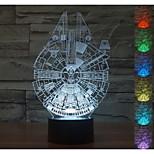 visuelle 3D Faucon Millenium atmosphère de l'humeur de modèle conduit décoration usb lampe de table cadeau coloré lumière de nuit