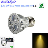 1 Stück YouOKLight Dekorativ Spot Lampen A50 E26/E27 3 W 300 LM 3000 K 3 High Power LED Warmes Weiß AC 220-240 / AC 110-130 V