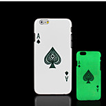 Poker Pattern Glow in the Dark Hard Plastic Back Cover for iPhone 6 for iPhone 6s Case
