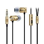 ggmm rouxinol caixa de metal leve graves profundos fone de ouvido com microfone (ouro)