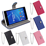 Inlay Rhinestone Design PU Texture Smart Cover Case for SONY Xperia Z2 (Assorted Color)