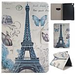 paris torre colorido desenho ou padrão de couro pu caso fólio tablet coldre foripad mini-4