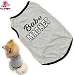 Dog T-Shirt - XS / S / M / L - Summer - Gray - Wedding / Cosplay / Holiday / Fashion - Cotton