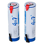 LIR-18650 3.7V 2800 mAh LI-ION Rechargeable Battery (2PCS)White & Blue