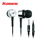 IP-106 In-Ear 3.5mm Plug Music + Answer Call Earphone w/ Microphone for iPhone 4 / 4S - Black