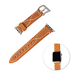 LENTION Saddle Series Leather Strap for iWatch 42mm