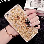 la moda de lujo brillo piezas brillantes TPU caso suave para el iphone 6 más / 6s más
