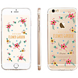 Parterre  Pattern Transparent TPU Material Phone Case for iPhone 6/ 6S