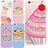MAYCARI®Cute Desserts Soft Transparent TPU Back Case for iPhone5/iPhone 5S(Assorted Colors)