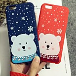 Snow Bear Pattern Silicon Soft Case for iPhone 6/iPhone 6S