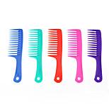 grande pente de dentes largos pente de cabelo crespo cabelo shampoo anti-estático não nó (cor aleatória)
