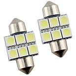 2pcs Festoon 31mm 1.5W 100lm 6000K COB LED White Light Car Reading Lamps(DC12V)