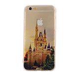The New Castle Landscape Pattern Translucent TPU Material Combo Phone Case for iPhone 6/ 6S